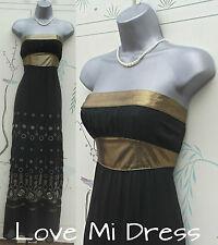 Warehouse - Stunning Silk Floor Skimming Maxi Dress Sz 8 EU36