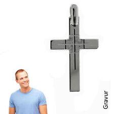 Herren Kreuz Anhänger mit Kette -925er Sterling Silber- Inkl. Gravur -367