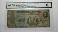 $1 1875 Taunton Massachusetts MA National Currency Bank Note Bill #766 Ace!