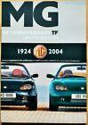 1924 - 2004 MG TF 80 80th Anniversary Limited Edition UK Brochure & Flash/Band