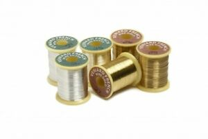 Veniard Solid Fly Tying Ribbing Wire  Gold -  Silver
