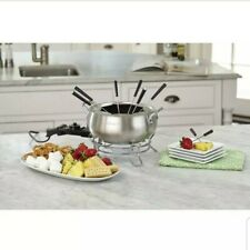 Electric Fondue Maker Cuisinart Chocolate Pot Cheese Stainless Steel Melting Set