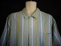 Tommy Bahama Blue Stripe Short Sleeve Shirt Men's  L