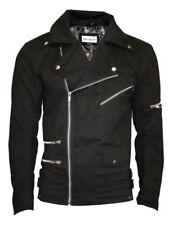 Abrigos y chaquetas de hombre motera color principal negro 100% algodón