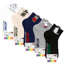MOOMIN Women Ankle Socks Cartoon Character Casual Cotton Lot Crew Fashion Sock