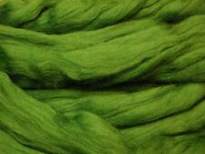 Forest Green Merino Wool roving / tops - 50g - needle felting / hand spinning