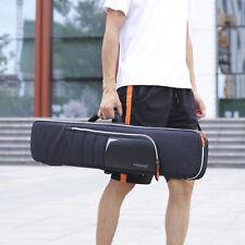 Padded Waterproof Double Erhu Bag Case Backpack for Chinese Violin Black