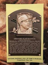 Greg Maddux Postcard- Baseball Hall of Fame Induction Plaque - Photo - Braves