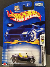 2003 Hot Wheels #51 First Editions 39/42 - Meyers Manx - '02 Card - 56375