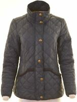 TOM JOULE Womens Quilted Jacket Size 12 Medium Navy Blue Polyamide  NB13