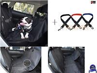 Dog Hammock Back Seat Cover Seat Belt Clip Combo BONUS Reflective Mesh Harness