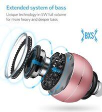 Bluetooth Speaker Indoor Outdoor Wireless Speaker Pink PORTABLE MINI METAL LED