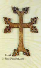 Armenian Christian Baltic Birch Cross, for Wall Hanging or Ornament, Item S5-5