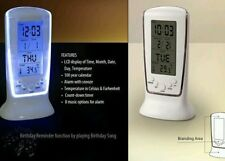 DIGITAL LCD CLOCK SQUARE 510 TABLE ALARM MULTI FUNCTION TIMER BLUE LED LIGHT
