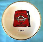 Vtg 1960's MASONIC Lodge SHRINER'S Glazed Pottery ASHTRAY Los Angeles Purveyors
