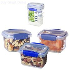 Food Storage Container Rectangle Set of 3 Dishwasher Microwave Freezer Safe New