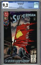 Superman #75 CGC 9.2 NM- 3rd Printing Variant Death of Superman WHITE PAGES