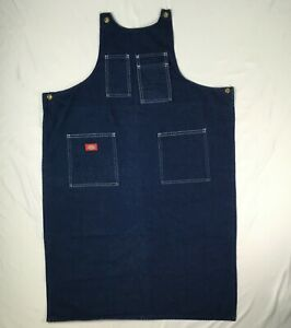 DICKIES blue denim apron utility work MENS SMALL S  no strings