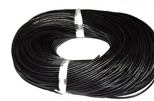 Free Shppping 100m 2mm Round Genuine Leather Cord Real Leather cord  Black Color