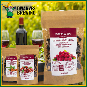 Wine making kit for 10 litre wine +yeast+Nutrients. Cranberry, raspberry Rosehip