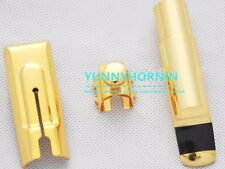 Genuine GOLD PLATED Eb ALTO Saxophone Mouthpiece Metal Sax MPC BRAND NEW #A 5-9