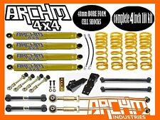 "NISSAN PATROL GQ GU 4"" INCH (100mm) SUPER LIFT KIT COIL SPRINGS & ARCHM4X4"