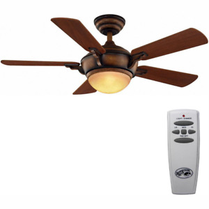 Hampton Bay Ceiling Fan Light Kit and Remote Control LED Indoor Espresso 44 in.
