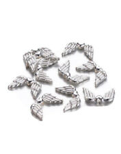 25 Silver Fairy / Angel Wing Spacer Beads for Beading Jewellery Making Crafts