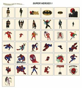 SUPER HEROES 1 CD or USB machine embroidery designs files most formats pes etc