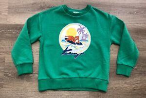 NWT KENZO Kids HAWAII Print TIGER 🐅 IN Menthol GREEN Sweatshirt 8 🌺