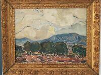 Durand peinture paysage signée Durand. Landscape painting signed