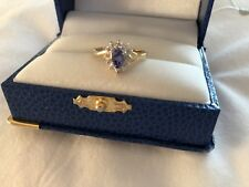 Tanzanite And Diamond Ring 14 KT Gold Size 7🌹NWOT