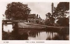 Fish & Eels Inn Pub Hoddesdon unused RP old pc  WHS Kingsway S10160