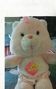 "1983 Vintage Plush Stuffed Care Bear of Baby Hugs baby bear. 11 3/4"" tall."