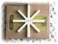 Longaberger Snowflake Happy Holidays 2009 Basket Tie-On Ornament New With Box