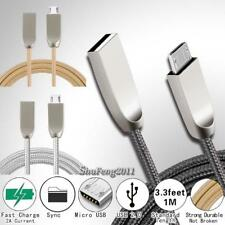 For Intex Aqua 3FT Micro USB Fast Charging Phone Data Sync Charger Braided Cable