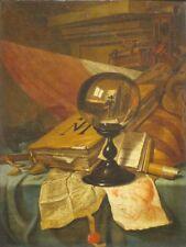 """perfect 24x36 oil painting handpainted on canvas""""Vanitas""""@N6211"""