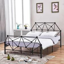 3ft Single 4ft5 Double & 5ft King Black or White Metal Bed Frame Mattress Option