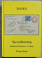 BADEN SPEZIALKATALOG 6. Auflage 2004 Germany Stamps Covers Postmarks Deutschland