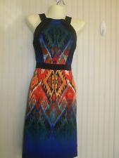 NWOT Muse- Size 0- XS career/casual dress- tribal print
