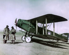 WWI Pilots Bristol Plane 1918 Photo Reproduction 8x10 Australian Flying Corps