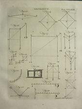 1797 georgiano impresión ~ mecánica ~ diferentes diagramas