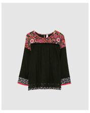 T-shirts et débardeurs noir à manches longues pour fille de 10 ans
