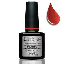 QUTIQUE Gel Nail Polish Colour SULPHIDE -burnt orange shimmer -Nail Wipes