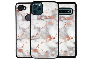 Rose Gold Marble Artistic Gold and Silver Phone Case for Apple Samsung LG Google