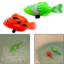Kids Wind-up Swimming Robofish 2 Pcs Children's Bathtub Robo Fish Bath Time Toys