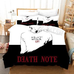 Anime Death Note Duvet Quilt Cover Bedding Set Pillowcase Single Double 7#