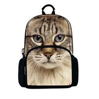 Backpack - 3D Tabby Cat Image.