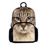 Backpack - 3D Tabby Cat Image.