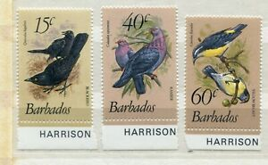 FAUNA_859 1982 Barbados birds 3 pc MNH Combined payments & shipping